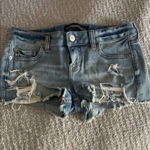 "Express ""cut off""  Shorts distressed"